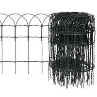 vidaXL Recinzione per Giardino in Ferro Verniciato a Polvere 10x0,4 m