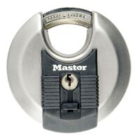 Master Lock Lucchetto a Disco Excell Acciaio Inox 80 mm M50EURD
