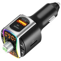 Trasmettitore FM Bluetooth con caricatore USB per auto PD + QC3.0
