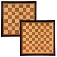 Abbey Game Scacchiera Dama e Scacchi 41x41 cm in Legno Marrone e Beige