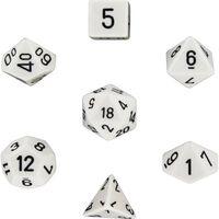 Dadi RPG 7-pack (per Dungeons and Dragons, ecc.) Bianco