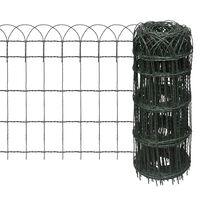 vidaXL Recinzione per Giardino in Ferro Verniciato a Polvere 25x0,65 m