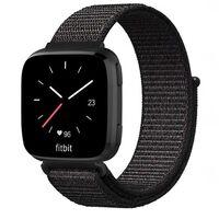 Bracciale Fitbit Versa / Versa Lite nylon - nero