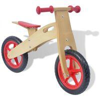 vidaXL Bicicletta senza Pedali Rossa in Legno