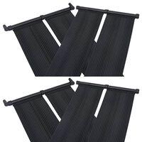 vidaXL Pannelli Solari Riscaldatori per Piscina 4 pz 80x310 cm