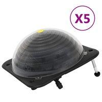 vidaXL Riscaldatori Solari per Piscina 5 pz 75x75x36 cm HDPE Alluminio