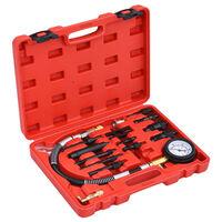 vidaXL Kit Tester di Compressione 14 pz per Motori Diesel