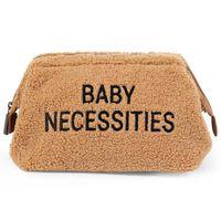 CHILDHOME Borsa da Toilette Baby Necessities in Peluche Beige