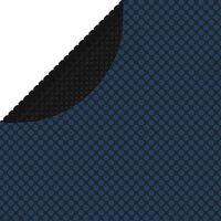 vidaXL Pellicola Galleggiante Solare PE per Piscina 381 cm Nero e Blu
