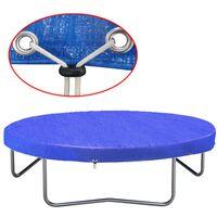 vidaXL Telo Copertura per Trampolino Elastico in PE 360-367 cm 90 g/m²