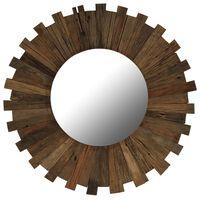 vidaXL Specchio da Parete in Legno Massello di Recupero 70 cm
