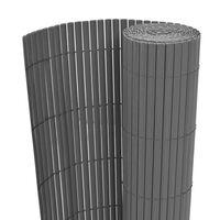 vidaXL Recinzione da Giardino a Doppio Lato in PVC 90x500 cm Grigia