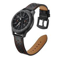 Braccialetto Samsung Gear S3 Classic / S3 Frontier 22 mm Pelle - nero