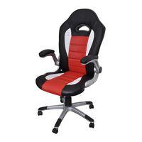 Sedia ufficio in pelle design moderno rosso
