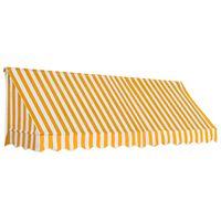 vidaXL Tenda da Sole per Bistrò 300x120 cm Arancione e Bianca