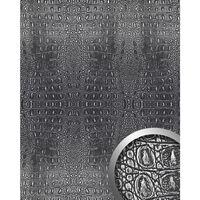 Wallface 13521-sa Pannello Murale Aspetto Pelle Di Coccodrillo Argento