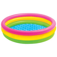 Intex Piscina Gonfiabile Sunset con 3 Anelli 147x33 cm