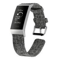 Bracciale Fitbit Charge 3 tela grigio scuro - S
