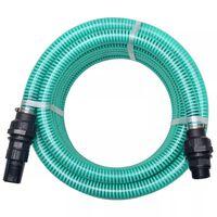 vidaXL Tubo di Aspirazione con Connettori 4 m 22 mm Verde