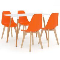 vidaXL Set da Pranzo 5 pz Arancione