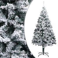 vidaXL Albero di Natale Artificiale con Neve Verde 180 cm PVC