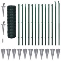 vidaXL Recinzione Euro in Acciaio 25x1,5 m Verde