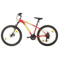 "vidaXL Mountain Bike 21 Speed 27,5"" Ruote 42 cm Rosso"