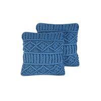 Set di 2 cuscini decorativi 45x45cm blu KARATAS