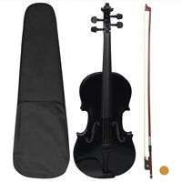 vidaXL Set Completo Violino con Arco e Mentoniera Nero 4/4