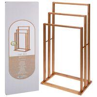 Bathroom Solutions Porta Asciugamani in Bambù con 3 Barre