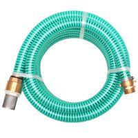 vidaXL Tubo di Aspirazione con Connettori in Ottone 7 m 25 mm Verde