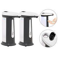 vidaXL Dispenser Sapone Automatico 2 pz a Infrarossi con Suoni 800 ml