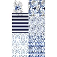 HOMEMANIA Tappeto Stampato Blue Patchwork 1