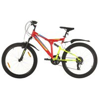 "vidaXL Mountain Bike 21 Speed 26"" Ruote 49 cm Rosso"