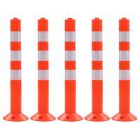 vidaXL Dissuasore del Traffico 5 pz Plastica 75 cm