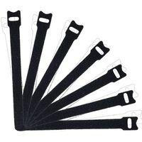 Fascette Fermacavi Con Velcro, Confezione Da 100 Pezzi, Nero