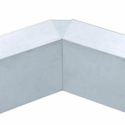 vidaXL Recinzione per Lumache in Acciaio Zincato 444x25 cm