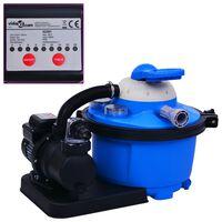 vidaXL Pompa con Filtro a Sabbia con Timer 450 W 25 L
