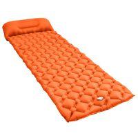 vidaXL Materasso Gonfiabile ad Aria con Cuscino 58x190 cm Arancione