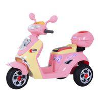 Homcom Motorino Triciclo Elettrico per Bambine 6V con Luci e Musica