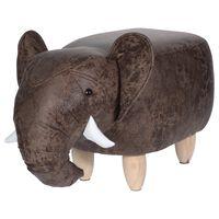 Home&Styling Sgabello 64x35 cm a Forma di Elefante