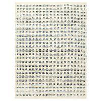 vidaXL Tappeto in Lana e Cotone Denim 120x170 cm Blu/Bianco