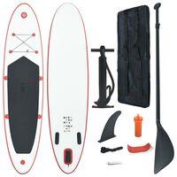 vidaXL Set Tavola da SUP e Surf Gonfiabile Rosso e Bianco