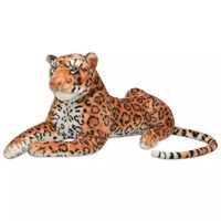 vidaXL Peluche Leopardo Marrone XXL