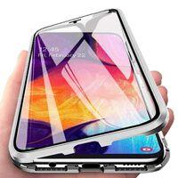 Custodia magnetica per Samsung Galaxy A70 con protezione per lo scherm