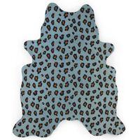 CHILDHOME Tappeto per Bambini 145x160 cm Motivo a Leopardo Blu