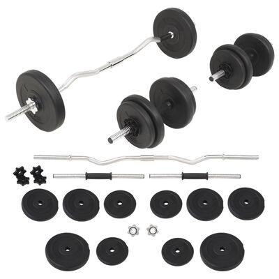 vidaXL Set Bilanciere e Manubri da 30 kg