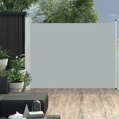 vidaXL Tenda Laterale Retrattile per Patio 170x500 cm Grigio