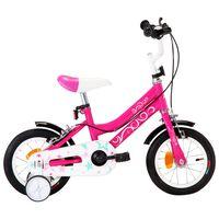 vidaXL Bici per Bambini 12 Pollici Nera e Rosa