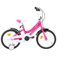 vidaXL Bici per Bambini 16 Pollici Nera e Rosa